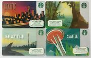 Starbucks Gift Card Set Of 4 Seattle 2014, 2015, 2016 And 2017 - Limited Edition