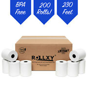 200 Rolls 3-1/8 X 230and039 Thermal Receipt Paper Pos Cash Register Bpa Free
