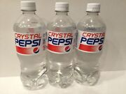 New Crystal Pepsi 20oz Single Bottles Soda Clear Cola 2016 Release Sold Out