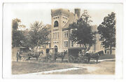 Three Horse Drawn Delivery Wagons Lowell Indiana Aug 19 1911 Real Photo Ppc