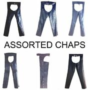Bikers Chaps, Motorcycle Gear, Leather Chaps Assorted,