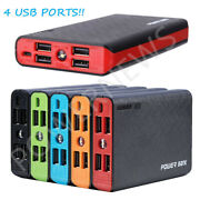 3000000 Mah 4 Usb External Power Bank Battery Charger Pack For Cell Phone