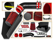 Cold Heat Shield Air Intake Blk +red Filter For 96-00 Suburban Sierra 5.0/5.7 V8
