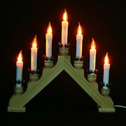 New Christmas Lights Electric Pine 7 Bulb Flickering Wooden Arch Candle-bridge