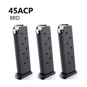 3x Klonimus 1911 8rd 45acp Magazine Compatible With Full Size 1911 Models
