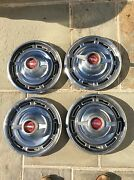 1966 Buick Skylark Hubcaps With Spinners. 14