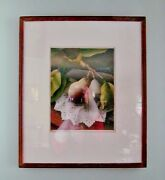 Pencil Signed Luigi Rist Paper Doily Woodcut Color Print 150 Ed. Matted And Framed