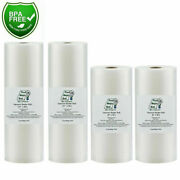 Four Rolls 2-8x50 And 2-11x50 Food Magic Seal For Vacuum Food Storage Sealer Bags