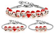 18ct Gold Plated Christmas Charm Bracelet Premium Jewelry Christmas Gift