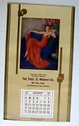 1937 Pinup Girl Picture Calendar By Erbit When Flowers Bring Loves Message