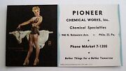 Vintage Pin-up Blotter By Gil Elvgren For Pioneer Chemical Works, Inc.