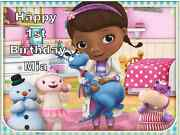 Doc Mcstuffins Personalised Cake Topper Edible Wafer Paper A4 7.5 By 10