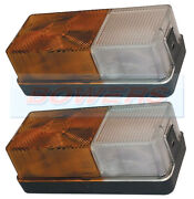 2x Ford Tractor Front Side / Indicator Combination Lights Lamps For New Holland