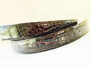 New Genuine Crocodile Leather Belt Straps Black Made In Italy Wholesale Trade