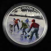 2014 20 Fine Silver Coin Pond Hockey Come With Cao And Box Not Sale Tax