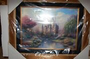 Thomas Kinkade Framed A New Day At Cinderella Castle P/p New Never Displayed