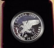 2013 20 Fine Silver Coin The Bald Eagle Returning From The Hunt Cao And Box