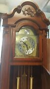 Corner Unit Grandfather Clock 31-day Winding Mechanical Movement Solid Wood Case