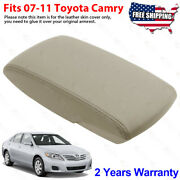 Fits 2007-2011 Toyota Camry Leather Center Console Lid Armrest Cover Bisque Tan