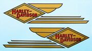 Water Decals For Harley-davidson Gas Tanks 1934 - 1935 Vl 45 Solo And Servi-car