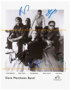 The Dave Matthews Band Signed Autograph 8x10 Rp Promotional Photo