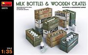 Miniart - 35573 - Milk Bottles And Wooden Crates - 135  New