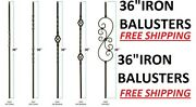 36 Black Iron Stair Parts Metal Balusters Spindles Twists Baskets Scrolls 36