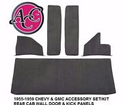 Acc 1955-1959 Chevy Gmc Truck Accessory Kit Door And Kick Panels Rear Cab Wall