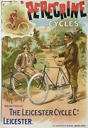 Poster Perecrine Cycles The Leicester Cycle Co The Dangerfield Printing Company
