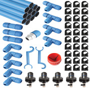 Rapidair Fastpipe 1-inch Compressed Air Aluminum Piping System 235-foot Maste...