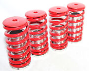 Emusa Coilover Lowering Coil Springs Set For Civic Delsol Crx Red/silver
