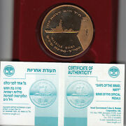 2002 Ships Of The Israel Navy Missile Boat 50mm Bronze Gold Plated
