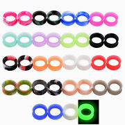 Lot 36pcs Silicone Ear Gauges Flesh Tunnel Plugs Body Piercing Jewelry Wholesale