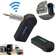 Wireless Fm Transmitter Bluetooth Music 3.5mm Aux Audio Stereo Adapter Receiver