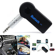 3.5mm Aux Stereo Music Audio Adapter Receiver Home Car Wireless Bluetooth W/ Mic