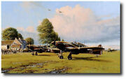 Front Line Hurricanes By Robert Taylor - Signed By Six 6 Aces - Aviation Art