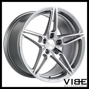 19 Ace Aff01 Flow Form Silver Concave Wheels Rims Fits Ford Mustang Gt Gt500