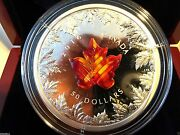5 Oz. Silver Coin – Murano Maple Leaf Autumn Radiance – Mintage 2,000 2016