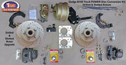 1949-1953 Dodge B100 Front Power Disc Brake Kit - 11 Drilled And Slotted Rotors