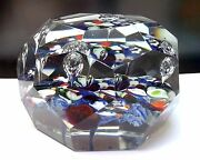 Wonderful Antique French St Louis Art Glass Faceted Paperweight