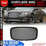 For 15-21 Chrysler 300 300c B Style Front Upper Grill Grille - Black
