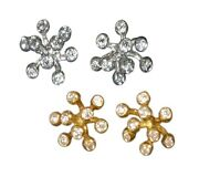 New Fireworks-9 Earrings-sterling Silver And Diamonds-plate Options Jane A. Gordon