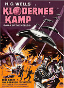 Poster The War Of The Worlds 1953 24x33 Vf+ 8.5 Danish Gene Barry