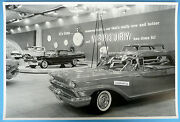 12 By 18 Black And White Picture 1959 Mercury Chicago Auto Show Display
