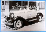 12 By 18 Black And White Picture About 1929 Chevrolet Cabriolet Top Down