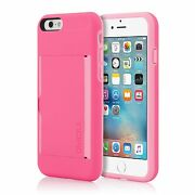 Genuine Incipio Stowaway Card Case With Kickstand For Iphone 6 And 6s 4.7 Pink