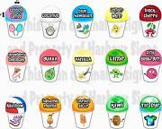 15 4x6each Shave Shaved Ice Snow Cone Decal Concession Food Truck Series 2