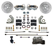 Mopar B And E Body Front Manual Disc Brake Conversion Kit With Maxgrip Xds Rotors