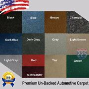 All Colors Upholstery Durable Un-backed Automotive Carpet 40 Wide - By Yard Lot