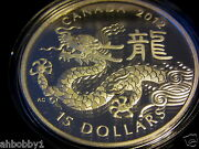 Canada 2012 1 Oz Fine Silver Classic Chinese Zodiac Coin - Year Of The Dragon